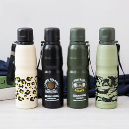 $enCountryForm.capitalKeyWord Australia - stainless steel tumbler Cross-border supply 500ML camouflage stainless steel vacuum flask outdoor sports cup camping hiking sports bottle