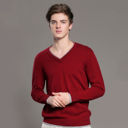 $enCountryForm.capitalKeyWord Australia - S-2xl V-neck Cashmere Sweater Men Autumn And Winter Men Basic Long Sleeve Pullovers Casual Solid Color Loose Sweater Pullover