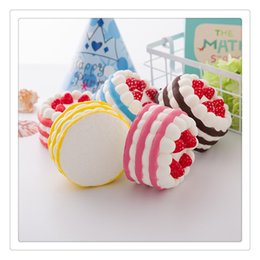 $enCountryForm.capitalKeyWord Australia - Squishy Cat Phone Case Squishies Slow Rising Cake Shape Cream Scented Relieves Stress Toy Child Christmas Gift
