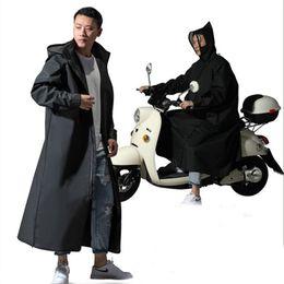 Wholesale designer jackets sale men resale online – Hot Sale EVA Raincoat Women Men Zipper Hooded Poncho Motorcycle Rainwear Long Style Hiking Poncho Environmental Rain Jacket T200616