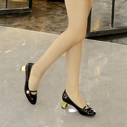 $enCountryForm.capitalKeyWord Australia - free shipping new arrival genuine patent leather mary jane shoes elegant women's pearl buckle mid heel pump