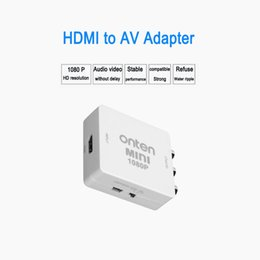 Wholesale 1080P HDMI to AV RCA CVBs Composite Video Audio Converter Adapter Supporting PAL NTSC with USB Charge Cable for Laptop Xbox PS4
