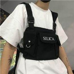 TacTical shoulder bags online shopping - Fashion Chest Rig Bag Hip Hop Streetwear Functional Tactical Chest Bags Cross Shoulder Bag Kanye West New Hot Bum Black