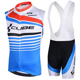 Cube Bicycle Clothing Australia - Cube Cycling Jersey Set Summer Sleeveless Breathable Bike Clothing Quick -Dry Bicycle Sportswear Bike Wear Maillot Ropa Ciclismo Hombre