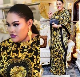 Liberi la nave 2019 donne moda girocollo stampa abito lungo casual maxi vestito da cocktail party allentato in Offerta
