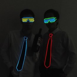 Hot Selling 27 Style El Wire Bow Tie Neon Novelty Lighting Led Tie Adult For Party,wedding,festival,bar,night Club Decoration Novelty Lighting
