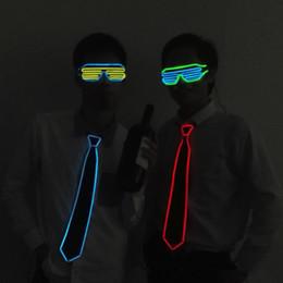 Hot Bar Australia - EL 2019 cross-border hot seller EL luminous tie luminous novelty creative tie LED tie night light bar atmosphere props
