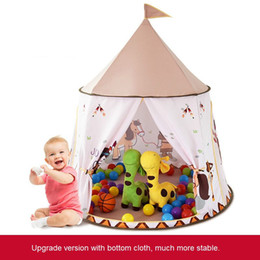 $enCountryForm.capitalKeyWord Australia - Eco-Friendly Children Indian Pony Round Castle Indoor Camping Play House Girls and Boys Cartoon Toy Baby Cloth Foldable Tent