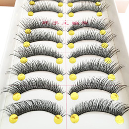 0e37069feb6 False Eyelashes For Makeup Fake Lashes Cils Natural Handmade Volume  Eyelashes Thick Cross Long Eyelash 5 10pairs