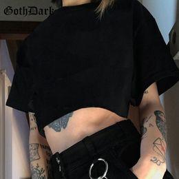 $enCountryForm.capitalKeyWord Australia - Goth Dark Aesthetic Grunge Loose Black T-shirts Gothic Fanshion Summer 2019 Crop Top O-neck T-shirt Streetwear Harajunku T shirt