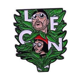 Figure Films Australia - Leon and Mathilda pin 90s nostalgia classic movie hitman badge plant pot brooch perfect gift for film fans