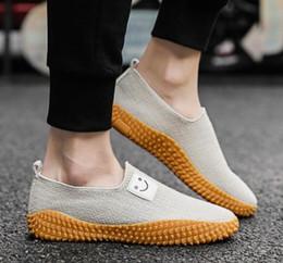 $enCountryForm.capitalKeyWord Australia - Summer men's canvas shoes linen shoes version of the breathable casual men's shoes comfortable Size 39-44