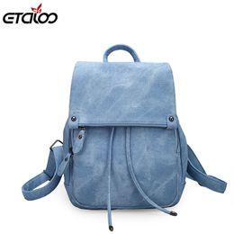 2018 College Wind Backpack Shoulder Bag PU Leather Women s bag fashion  ladies backpack Mochila Escolar School Bags For Teenagers  33149 7de48e36b1b9c