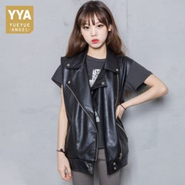 $enCountryForm.capitalKeyWord NZ - 2019 Spring New Sheepskin Genuine Leather Vest Women Sleeveless Loose Fit Korean Waistcoats Black Natural Leather Jackets Ladies