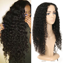 """Jerry Curly Lace Front Wigs Australia - 13x4 Lace Front Human Hair Wigs Pre Plucked With Baby Hair Jerry Curly Brazilian Remy Hair Lace Front Bob Wigs 8""""-26"""""""