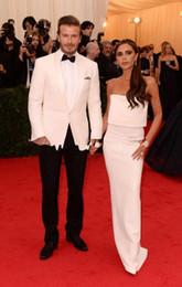 $enCountryForm.capitalKeyWord Australia - Groom Tuxedos Groomsmen Red White Black Shawl Lapel Best Man Suit Wedding Men's Blazer Suits Custom Made (Jacket+Pants+Vest)