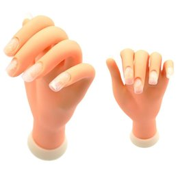 Mannequin Art Australia - Flexible Soft Plastic Hand Model Flectional Mannequin Fake Hand Nail Art Practice Display Tool Nails Accessoires Can Bend