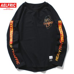 $enCountryForm.capitalKeyWord Australia - Aelfric 2018 Harajuku Casual Long Sleeve 3d T-shirts Skull Letter Print Mens T Shirt Autumn Winter Male Hip Hop Tee Shirt Of076 J190612