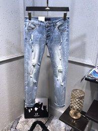 $enCountryForm.capitalKeyWord NZ - 2019SS French Solid Classic Style Jeans Slim Fit Motorcycle Biker Denim For Men's Fashion Designer European version Jeans size 28-38