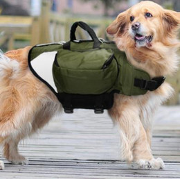 Discount extra packs - Outdoor Dog Backpack Harness Reflective Dogs Pack Hound Travel Camping Hiking Backpacks Saddle Bag for Medium Large Dogs