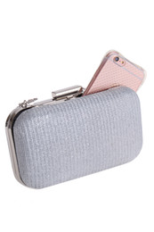 $enCountryForm.capitalKeyWord UK - Shiny Glitter Silver Black Bridal Hand Bags Clutch Bags For Formal Party Occasions with Chains Ladies Minaudiere Bags 197956