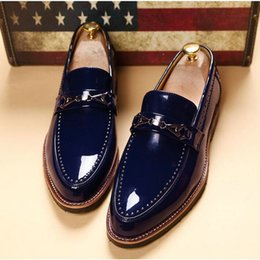 formal driving shoes 2019 - Design Brand Classic Brogue Mans Footwear Formal Bullock Loafers Driving slip on Shoes Men Leather wedding Dress Shoes A