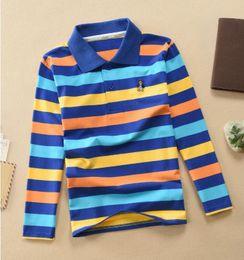 Polo Boys Australia - good quality Kids Baby Boys & Girls Polo Shirts High Quality Children Boys Long Sleeve Cotton Striped Tshirt Children Kids Clothes