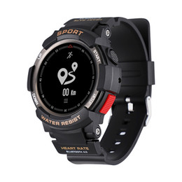 NO.1 F6 SmartWatch NRF51822 Чип IP68 водонепроницаемый Heart Rate Monitor Sleep Remote Camera для IOS Android Bluetooth Watch