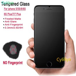$enCountryForm.capitalKeyWord Australia - Anti glare anti fingerprint frosted matte Tempered Glass Screen Protector For iPhone 5S 7 plus 8 8plus XR XS MAX