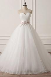 $enCountryForm.capitalKeyWord Australia - Simple Sweetheart Button Up White Tulle Cheap Wedding Dresses with Pattern Sash A-Line Dresses for Weddings vestidos de novia ibicencos