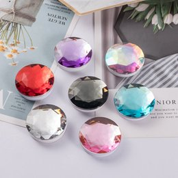 cell phone glue 2019 - New Arrival Expandable Diamond Stone Shape Crystal Grip Phone Stand Universal Cell Phone Holder 3M Glue 360 Rotation Bra