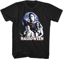 $enCountryForm.capitalKeyWord Australia - Halloween Michael Myers Bloody Knife Group Shot Adult T Shirt Great Scary Movie Brand shirts jeans Print Classic Quality High t-shirt