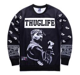 ef23a04fa Thug Life 2pac Tupac Printed Pullover Mens Womens Casual Thin Pullover Male  Female Hip Hop Designer Sweatshirts Long Sleeve Tshirts