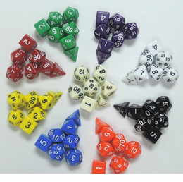 $enCountryForm.capitalKeyWord Australia - High Quality Outdoor KTV Fun 7pc Set Dice Multi-Sided Dice with Marble Effect d4 d6 d8 d10 d10 d12 d20 Polyhedral Dice Game 9 Color D0680