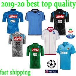 c86d12cc4 new 2018 2019 Serie A Naples New Napoli home soccer jerseys Napoli blue  football Jerseys Shirt for men 18 19 HAMSIK L.INSIGNE PLAYER Shirt