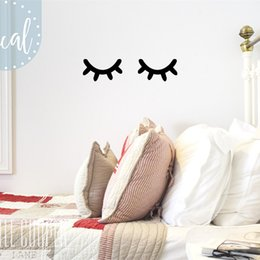 baby girls room decor Australia - Sleepy Eyes Vinyl Wall Decal Sticker Closed Eyes Kids Decor Eyelashes Baby Boys or Girls Nursery Wall Stickers Kids Room T170206