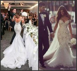 steven khalil lace 2019 - 2019 New Wedding Dresses Mermaid Gorgeous Steven Khalil Dubai Arabic Off the Shoulder Plus Size Dress Full Length Backle