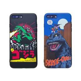 cases for iphone batman NZ - Japan Popular Godzilla Phone Case For iphone 11 pro X Xs Max Xr 8 7 6 6s Plus dc Batman Cartoon Anime Gojira Soft Silicone Cover