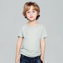 $enCountryForm.capitalKeyWord NZ - 6 Colors Kids Pure Color T-shirt Girls Breathable Shirts Boys Sweat Absorption Tshirts 4 Colors Tops