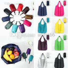 Large Capacity Shopping Bag Foldable Australia - New Pure Color and Large Capacity Supermarket Foldable Shopping Bag Receiving Bag Portable Environmental Bags Handbag Storage Bags 4698