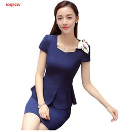 Professional Female Skirt Suits Australia - Professional Fashion Female Skirt Suits 2019 Women Summer Formal Short Sleeve Blazer And Skirt Office Lady Interview Work Wear