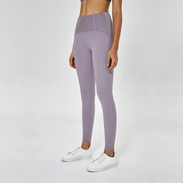 f6eec3773a8875 LU-68 2019 Non-see through High Waist Women yoga pants Spandex Sports Gym  Wear Leggings Elastic Fitness Lady Overall Full Tights