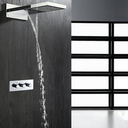 "$enCountryForm.capitalKeyWord NZ - 22"" Large 304sus Rainfall Shower Faucet Set 304 Stainless Steel Waterfall Rain Shower Head+2 way hot cold shower controller"