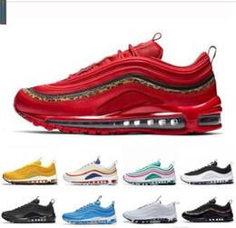 box tab 2019 - Running Shoes Mustard 97s Chaussures SE South Beach Pull Tab Triple Black White Mens Women Trainer Designer Sports Sneak