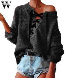 $enCountryForm.capitalKeyWord Australia - Sweater 2017 Sweater O-neck Women Long Sleeve Pullover Bandage Casual hand knitted Cardigan fashion nov9