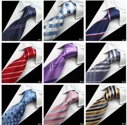 Wholesale Designer Mens Ties 38 Design Silk Neck Ties 8cm Plaid & Striped Ties for Men Formal Business Wedding Party Gravatas