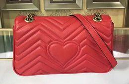 Antique Zippers Australia - Quality 443497 26cm Marmont Matelasse Leather Shoulder Bag,Antique gold-toned hardware,Flap spring closure,with Box Dust Bag