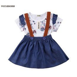 girl baby blue tutu skirt UK - 2019 Newborn Kids Baby Girl Floral Jumpsuit Romper Princess Party Skirt Dress Clothes Baby Girl Ruffles Short Sleeve Skirt Navy Blue