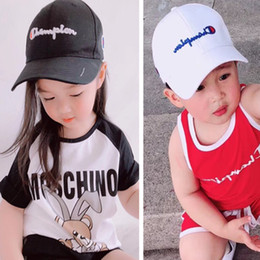 5e15d0883c807 Boys golf cap online shopping - INS Kids Champions Snapback Baseball Hat  Boys Girls Adjustable Brand