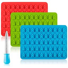 Ours gommeux de silicone de moule de cuisine moules pour des moules de sucrerie au chocolat et des plateaux de glace décorant l'outil de cuisson en Solde